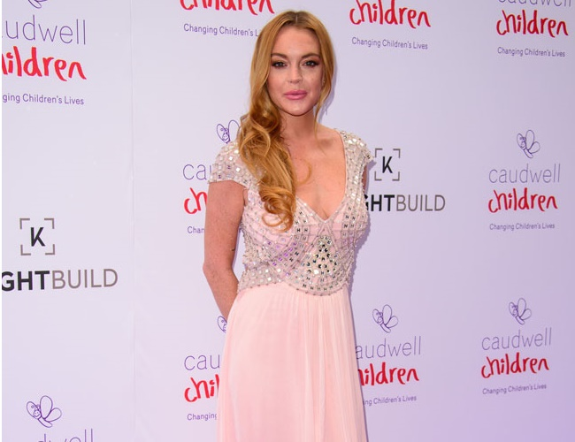 Lindsay Lohan is staying away from social media