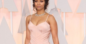 ADM_OSCAR2015_ - Celebrity arrivals at the 87th Annual Academy Awards presented by the Academy of Motion Picture Arts and Sciences held at the Dolby Theatre.  Pictured: Zoe Saldana Ref: SPL959401  220215   Picture by: AdMedia / Splash News  Splash News and Pictures Los Angeles:310-821-2666 New York:212-619-2666 London:870-934-2666 photodesk@splashnews.com