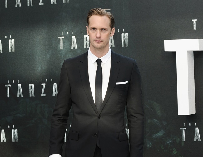 Alexander Skarsgard isn't happy as an actor
