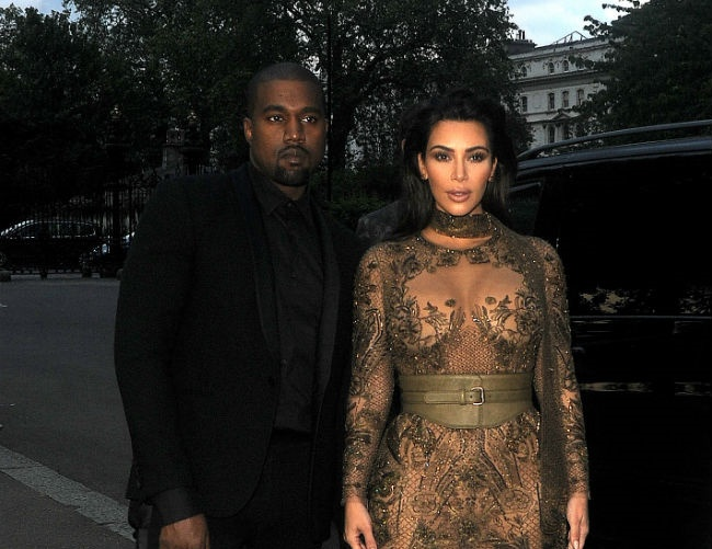 Kanye and Kim Kardashian West looking forward to the New Year