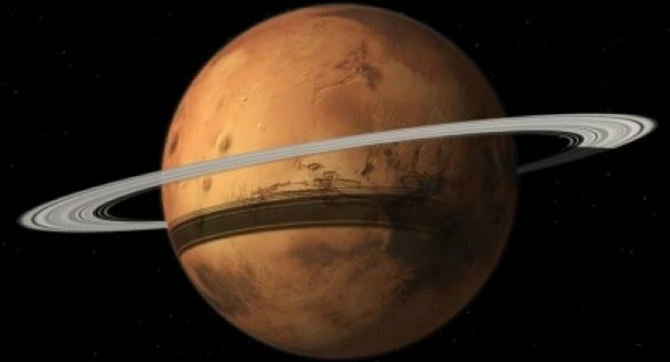 Stunning claim: Mars will get a ring like Saturn