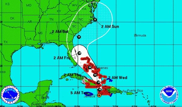Hurricane Matthews strengthens, on path to strike Florida